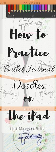 Designing ideas for your bullet journal on your iPad! #journal #ipad #designideas