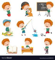 Vector Illustration Of Cartoon Character Cartoon Cartoon, Cartoon Characters, Learning Arabic, Vector Photo, Daily Activities, Cute Art, Adobe Illustrator, Green Chilli, Vector Freepik