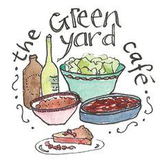 Green Yard Cafe / Bridport Local Food Map  Fineliner + watercolour food illustration / Dorset CLS / Delphine Jones / www.delphinejones.com