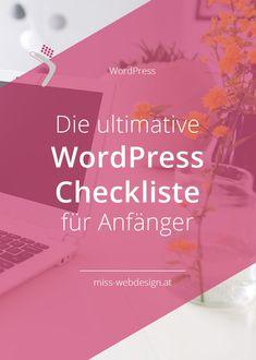 Die erste Hürde ist geschafft. Du hast gerade WordPress installiert. Herzlichen Glückwunsch!  Doch wie geht's jetzt weiter? Falls du dich das fragst, hol dir unbedingt meine ultimative WordPress Checkliste für Anfänger, damit du einen glänzenden Start mit deiner Website hinlegst. #misswebdesign #wordpress