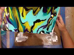 "Pouring Medium On A Canvas ""Cosmos"" - YouTube"