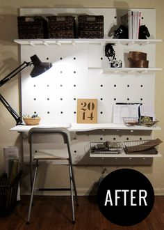 DIY Peg Board Workspace