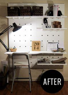 DIY Peg Board Workspace