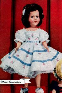 Miss Seventeen Crochet Pattern Doll Clothes by dianeh5091 on Etsy