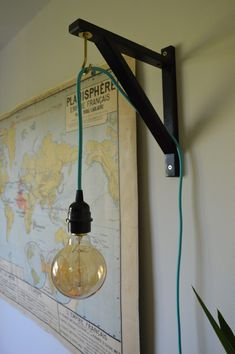 IKEA EKBY VALTER hack. Shelf bracket to pendant light hook. IKEAHACK
