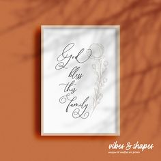 """""""God bless this family"""" Poster - for good vibes in your home! #blessing #god #poster"""