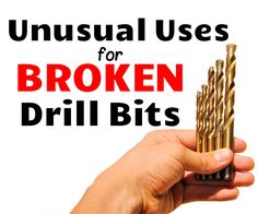 Unusual Uses for Broken & Dull Drill Bits, What to do with broken drill bits, you might ask? In this Instructable, I will show you unusual uses for drill bits, making you regret throwing away any of your broken and dull drill bits away Woodworking School, Woodworking Store, Learn Woodworking, Woodworking Videos, Youtube Woodworking, Woodworking Bench, Wood Turning Lathe, Wood Turning Projects, Metal Projects