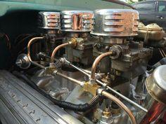 3 deuces carburetors steel fuel line