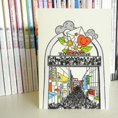 'Takeshita Street' Japanese postcard. Made by Mietta Várszegi.  You can order by clicking on the picture.