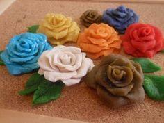 ▶ D.I.Y Flower..Polymer ROSE - YouTube