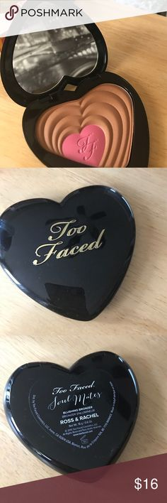 Too faced soul mates blush and bronzer Too faced soul mates blush and bronzer in Ross & Rachel. Brand new, in original box. Never used. Too Faced Makeup Bronzer