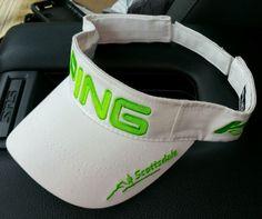 Ping G15 K15 Scottsdale Golf Visor white neon green #Ping #Visor