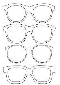okulary w czerni