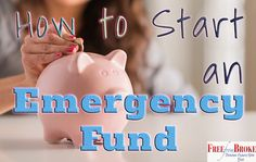 Emergency funds sound like a great idea but you have to still get started and save. This article will give you the details on how to start an emergency fund. Financial Budget, Financial Peace, Financial Goals, Money Saving Challenge, Saving Money, Money Stacks, Savings Plan, Budgeting Money, Piggy Bank