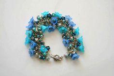 DIY Bracelet : DIY Make Flower Bracelet with Acrylic Beads and ChainsA