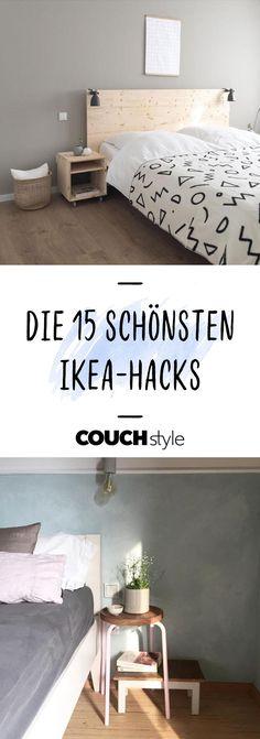 Wir zeigen dir 15 Ikea-Hacks, die du ganz einfach zuhause nachmachen kannst! #interior #ikea #scandi #schlafzimmer