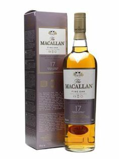 Macallan Fine Oak 17 Year Old Whisky for sale in our online liquor store. Buy The Macallan Fine Oak 17 Year Old Whisky online today Good Whiskey, Scotch Whiskey, Irish Whiskey, Fun Drinks, Alcoholic Drinks, Cocktails, Macallan Whisky, Rum, Wine Label Design