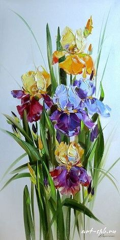Oil Painting Flowers Art Cheap Art Canvas Romantic Canvas Art Silver G – parsleyral Iris Painting, Acrylic Painting Flowers, Abstract Flowers, Watercolor Flowers, Watercolor Paintings, Floral Paintings, Grey Canvas Art, Glitter Wall Art, Iris Art