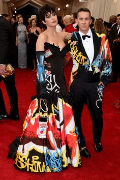 Katy Perry wearing Moschino at the 2015 Met Gala. with Jeremy Scott.