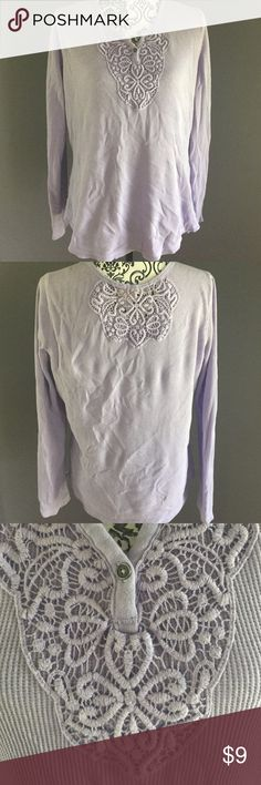 Faded Glory Top Lilac purple, long john material. In excellent condition. Please excuse the wrinkles. Faded Glory Tops Tees - Long Sleeve