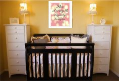 Baby Girl Nursery Wall DecorShe is clothed by TheCootiesCollection
