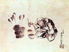 Katsushika Hokusai - Craftsman painting toys