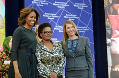 First Lady Michelle Obama and Deputy Secretary Higginbottom With 2014 IWOC Awardee Beatrice Mtetwa of Zimbabwe