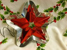Vintage Christmas Tree Topper Mid Century Aluminum by ToBeJolly