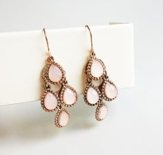 Hey, I found this really awesome Etsy listing at https://www.etsy.com/listing/209816500/chandelier-bridal-earrings-peach