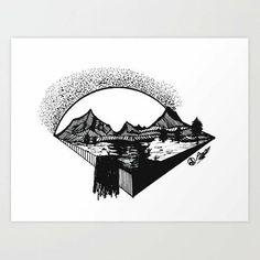 Rustic Artwork, Rustic Wall Art, Mountain Drawing, Mountain Art, Space Artwork, Sun Art, Bear Art, Original Artwork, Art Drawings