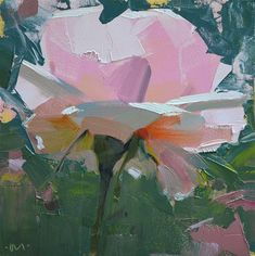 """Daily Paintworks - """"Underbelly Rose"""" - Original Fine Art for Sale - © Carol Marine Abstract Flowers, Painting Flowers, Rose Paintings, Floral Paintings, Indian Paintings, Landscape Paintings, Original Paintings, Contemporary Abstract Art, Modern Art"""