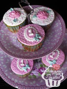 Shabby cupcakes, para primer año.