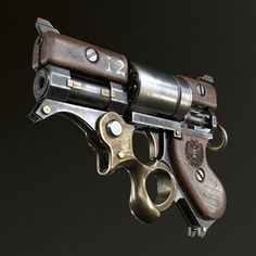 Are you a fan of steampunk art? Steampunk art combine fantasy with science where advanced machinery exists within a fantasy realm Steampunk Weapons, Sci Fi Weapons, Weapon Concept Art, Weapons Guns, Fantasy Weapons, Guns And Ammo, Pistola Steampunk, Revolver Pistol, Revolvers