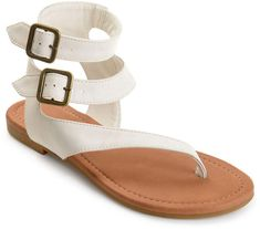 690488b50d0 JOURNEE COLLECTION Journee Collection Kyle Womens Flat Sandals Leather  Buckle