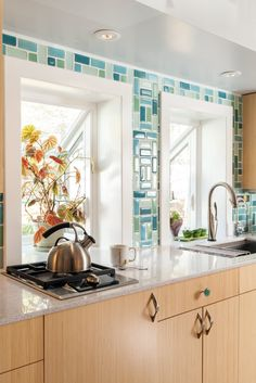 Eclectic Glass Backsplash | Installation Gallery | Fireclay Tile