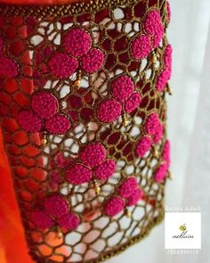 For orders / enquiries Call / whatsapp 7868554555 Cutwork Blouse Designs, Fancy Blouse Designs, Bridal Blouse Designs, Saree Blouse Neck Designs, Hand Work Blouse Design, Stylish Blouse Design, Cutwork Saree, Simple Embroidery Designs, Beaded Embroidery