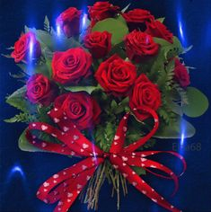 Beautiful Bouquet Of Flowers, Beautiful Rose Flowers, Happy Birthday Flower, Happy Birthday Greetings, Beautiful Love Pictures, Beautiful Gif, Red Rose Bouquet, Flowers Gif, Good Morning Flowers