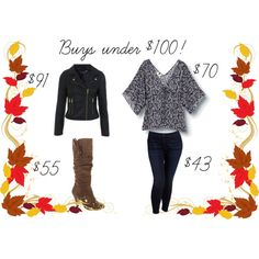 Floral top, leather jacket  Boots!