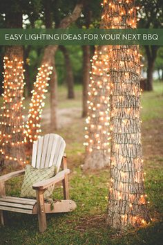 Light up your next outdoor party with a few of these super easy (and affordable) DIY lighting ideas.