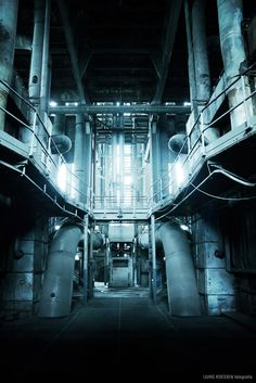 Power Plant IM - Tron Dancer In The Dark, Industrial Waste, Abandoned Factory, Fantasy Setting, Stage Design, Photo Reference, Dieselpunk, Abandoned Places, Pretty Pictures
