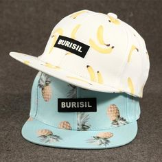3fa2d9d7db0 Fruit Pattern Adult Kids Snapback Summer Hat Spring Hats