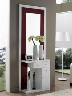 modern console table design ideas with mirror 2019 Bedroom Dressing Table, Dressing Table Design, Bed Furniture, Furniture Design, Console Design, Modern Console Tables, Interior Decorating, Interior Design, Bed Design