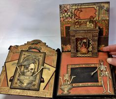 Graphic 45 Rare Oddities Pop Up Mini Album with Flaps by Anne Rostad