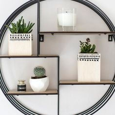 DIY Mudcloth Inspired Wood Planters
