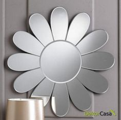 Fancy Mirrors, Round Mirrors, 3d Mirror, Fabric Letters, Glass Vanity, Beveled Glass, Home Interior Design, Daisy, Contemporary