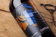Contour Wines with Abstract Wine Label Design / the Labelmaker - Contour Wines - Abstract Wine Label Design / World Brand & Packaging Design Society