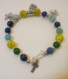 Bracelet citrine, emerald Gemstone etsy jewelsbyyvonne $30