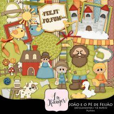 Kit Digital João e o Pé de Feijão by Lu Ifanger
