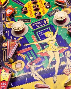 Vintage Pinball Photograph, Nursery Decor, bright colors, Retro Arcade Decor, Summer Fun - Dance