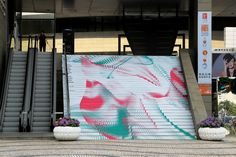 拍攝街道宣傳二十三屆藝術節廣告